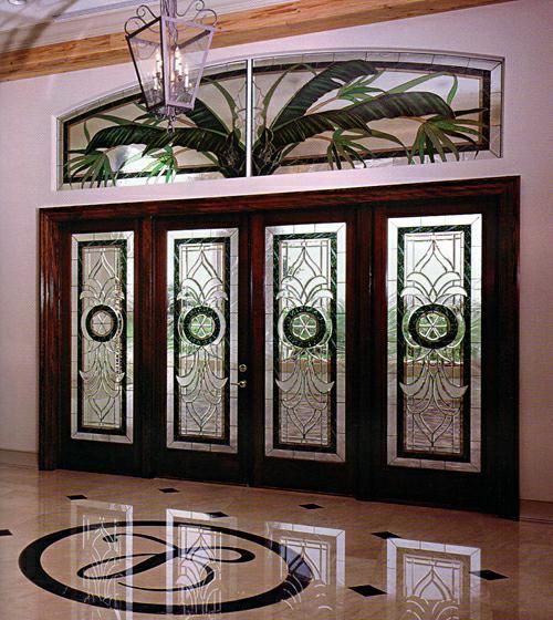 Дверь витраж. Изготовление художественных витражей в Саратове